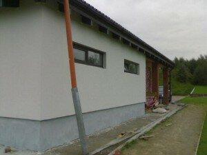 Пример утепленной наружной стены дома сотрудниками Квадрат в СПб