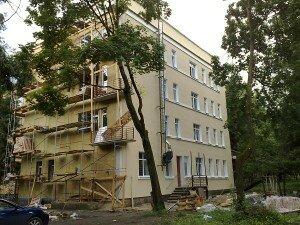 Пример наружного утепления фасада многоквартирного дома от компании Квадрат
