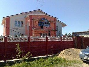 Пример наружного утепления фасада дома от компании Квадрат